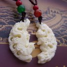 Buy lovers Jewelry Tibetan Yak Sculpture Dragon Pendant Women Necklace Agate Beads Ivory Bone carvi