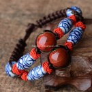 Buy New Arrival Hot Fashion Ethnic Porcelain Beads Jewelry Handmade Knitted Blue And White Ceramic