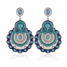 Buy New Design Fashion Charm Vintage Bohemian Beads Earrings Jewelry Alloy Hollow Flower Pendant Dr