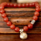 Buy New Fashion National Wind Elegant Charm Beaded Natural Stone Agate Heart Pendant Lovely Bracele