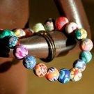 Buy New!!! Wholesale Ethnic Fashion Handmade Fimo Color Women Bracelets Flowers 8 mm Bead Bracelets