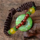 Buy Original Hot Jewelry Bracelet Top Quality Turquoise Inlay Red Agate Roundness Bead Adjust Bangl