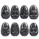 Buy Top Quality Natural Obsidian Buddha Neckalce Womens Stone Pendent Necklaces Long Beads Chain Ne