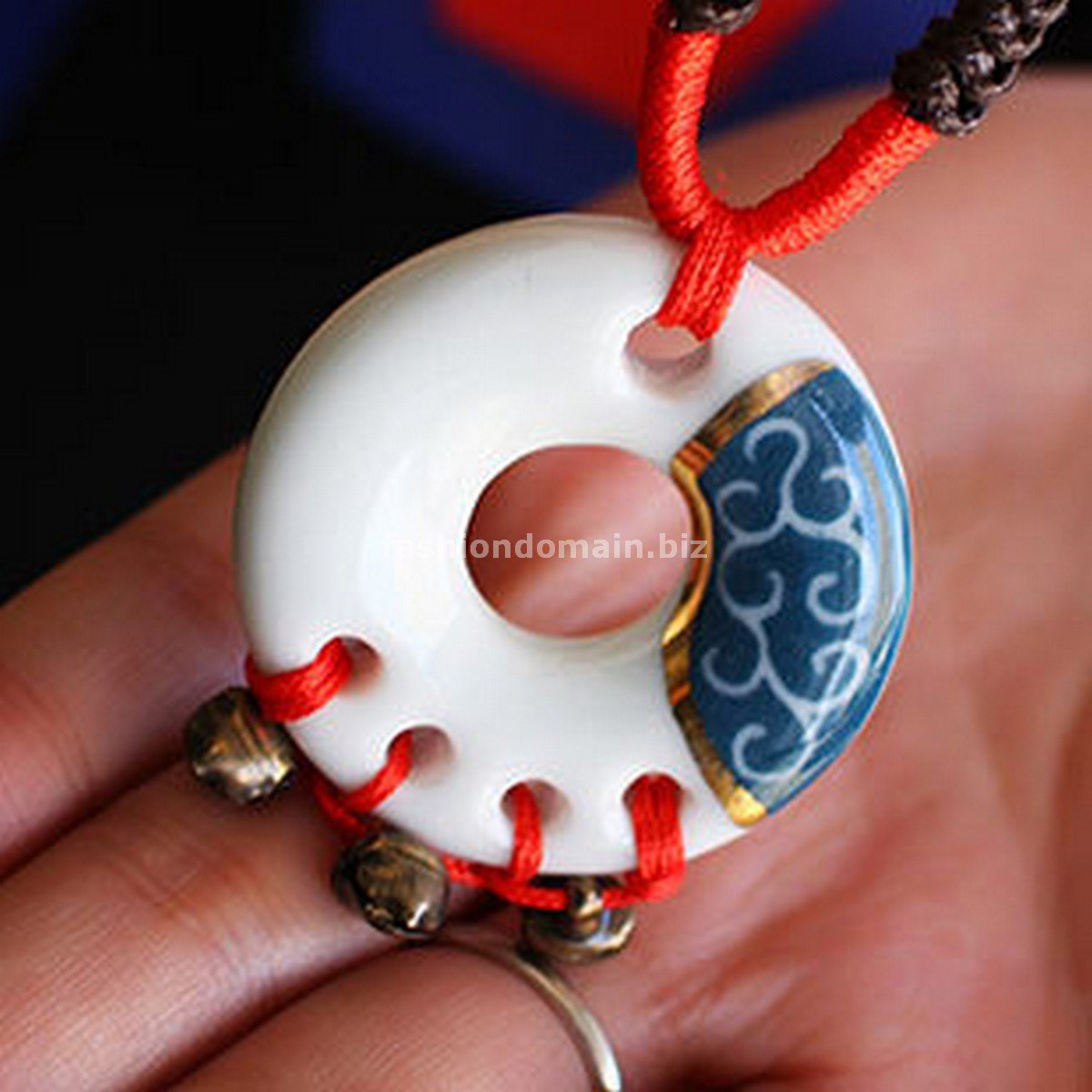 Buy Vintage Weave Ceramics Round Pendent Necklace for Women Fashion Hand made Women Long Necklace G