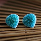Buy Wholesale Refinement Ice Blue Crack Ceramics Heart Alloy Earring Women Handmade Gift Creative C