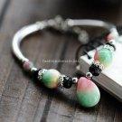 Buy Wholesale Shambhala Tibetan silver High Quality Natural Apple Stone Rhinestone Bracelets Women