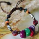 Buy Colorful Natural Stone Bracelets for Women Gift Fashion Women Weave Bracelet Charm Accessories