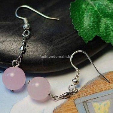 Buy Wholesale Trendy Jewelery Charm Alloy Natural Spar Bead Earring Noble Women Pink  Orange Refine