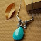 Buy Wholesale Trendy Jewelery Original Simple Refinement Turquoise Pisces Alloy Necklace Personalit