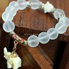 Buy  new 13mm acrylic rhinestones crystal beads Tibetan silver elephant pendant bracelet fashion je