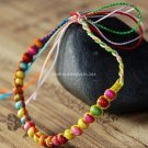 Buy  New Arrival Fashion Charm Bracelet Bohemian Style Color line Weave Wooden Beads Bracelets for