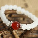 Buy  New Summer High quality Agate Natural White Chalcedony Bracelets  Bangle for Women Fashion 7MM