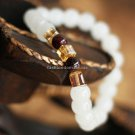 Buy  New Summer High quality Garnet Natural White Chalcedony Bracelets  bangle for Women Fashion 7M