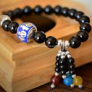 Buy Fashion Top Quality Black Agate bracelet, Women and Girls Temperament Agate Beads BraceletBangl
