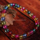 Buy High Quality Fashion Hot Color Crystal Bracelets  bangle 6mm Beads Charm Bracelet Elastic for W