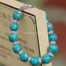 Buy Hot Sale Fashion Vintage Turquoise Bracelets  bangle 10mm Color Beads Charm Bracelet Elastic fo