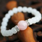 Buy Hot Sale Natural Pink Crystal Rhinestone Bracelets  bangle 7mm Beads Charm Bracelet Elastic for