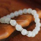 Buy Hot White Crystal Austrian Rhinestone Bracelets  bangle Simple 8mm Beads Charm Bracelet Elastic