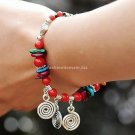 Buy New!!! Wholesale Shambhala Jewelery Color Tibetan silver Turquoise beads Shell Refinement Brace