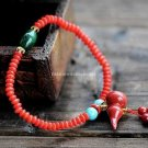 Buy New! Wholesale Tibetan Natural Red Coral Bead Gourd Cyanosis Bluestone Bracelets Women Gift Han