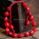 Buy New! ! Wholesale Tibetan Red Natural Silk Weave Bracelets Women Gift Handmade Lucky Fashion Eth