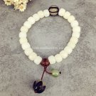 Buy Oriental Natural Plant Seed White Bodhi Beads Elastic String Buddhist Mala Bracelet Women Pray