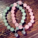 Buy PinkGreen Classic Natural Crystal Bracelet 8mm Crystal Beads Bracelet for Women Girs.Tibetan si