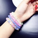 Buy Stretch 8MM Color Crystal Beads Natural Stone Quartz Fluorite  Bracelet for Women  Christmas Gi