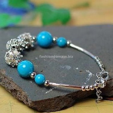Buy Wholesale Exclusive National wind Design Bone Collectables Tibetan silver Shambhala Bracelets F