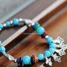 Buy Wholesale Tibetan Charm Jewelery Natural Turquoise Flowers Tibetan silver Shell Shambhala Brace