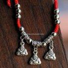 Buy Wholesale Tibetan Original Handmade Red line Weave Lucky Tibetan silver Maitreya Bracelets Gift