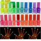 19 Candy Colors Glow The Dark Luminous Fluorescent Nail Art Polish Enamel Beauty