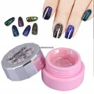 6 Bottles Japanese Nail UV Gel Polish Clear Mirror Glitter Gel Painting Bling Nail Tips Art Design
