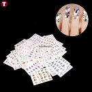 50 Sheets Full Cover Flowers Nail Art Water Transfer Stickers Manicure Decals  arrive