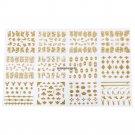 12SheetsSet Nail Art Decorations Stickers Nail Decal Sticker Self Adhesive 3D Flower Designs Manicu