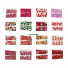 50PCSSet  5x6cm Mixed Flowers Pattern Stickers Water Transfer Nail Art Decals Decoration Manicure N