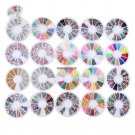 Fashion 20Pcs Nail Art Rhinestone Glitters Tips Decoration Manicure Wheel