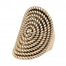 Charms Oval Vintage Punk Rock Rings For Women Ancient Gold Color Midi Rotating Decorative Pattern L