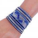 Fashion   Leather Bracelets with Wrap  Bracelet for women Clasp Charm Bracelets Bangles