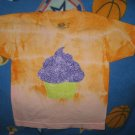 orange and pink 2t/3t with cupcake shirt