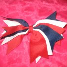 Red, white and navy bow