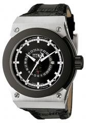 Invicta Men's Akula GMT Black Dial Black Leather.