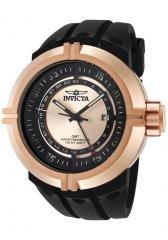 Invicta Men's Force GMT Rose Dial Black Polyurethane