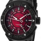 Invicta Men's II GMT Red Dial Black Polyurethane