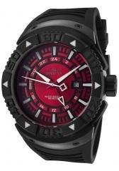 Invicta Men's II GMT Red Dial Black Polyurethane