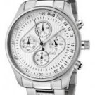 Dolce & Gabbana Men's Mentone Chronograph Silver Textured Dial Stainless Steel
