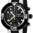 Clerc Men's CXX Scuba 250 Automatic Chronograph Black Rubbe