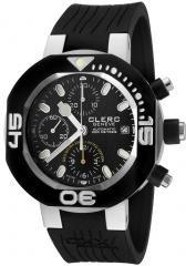 Clerc Men's CXX Scuba 250 Automatic Chronograph Black Rubbe