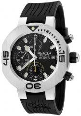 Clerc Men's CXX Scuba 250 Automatic Chronograph Black Rubber