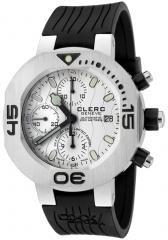 Clerc Men's CXX Scuba 250 Automatic Chronograph Black Rubber